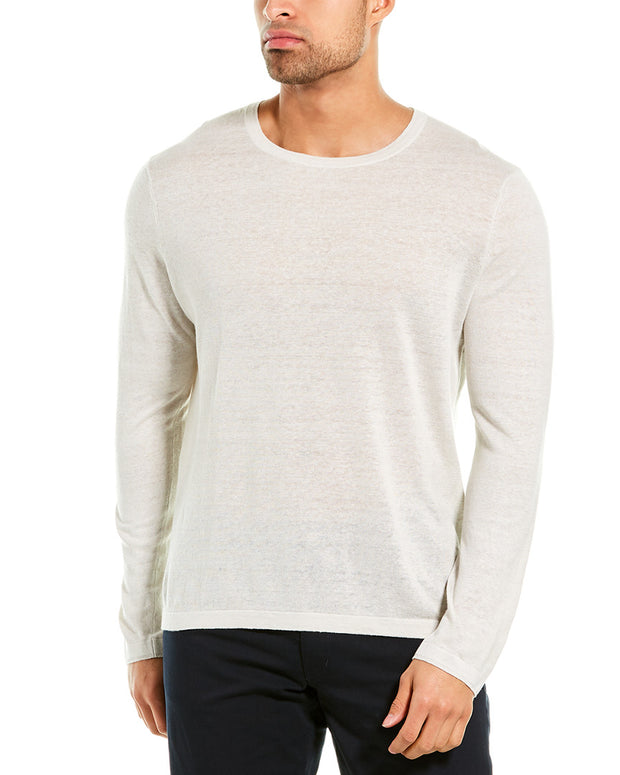 Theory Berthos Linen-Blend Crewneck Sweater