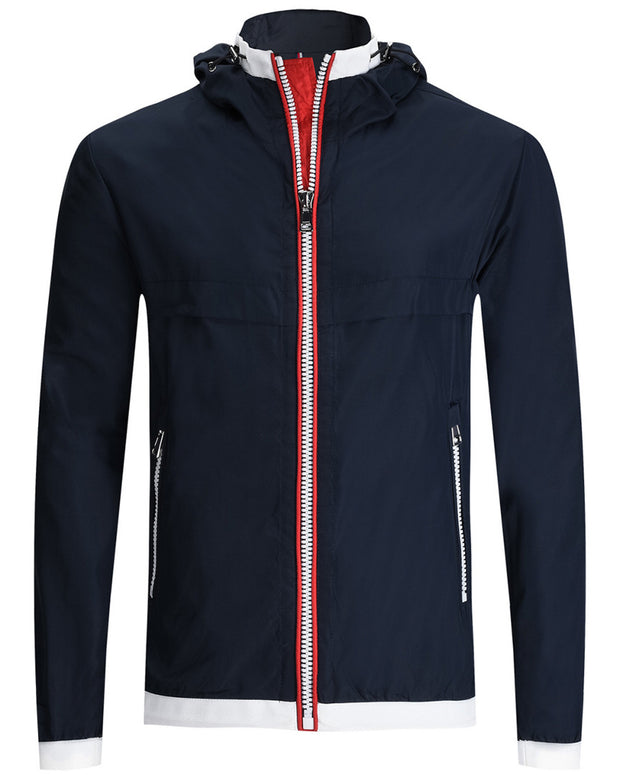 Bugatchi Full Zip Hooded Jacket