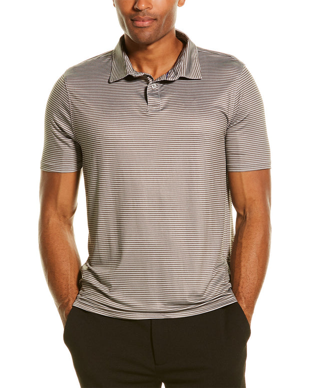 Heritage By Report Collection Stripe Print Performance Polo Shirt