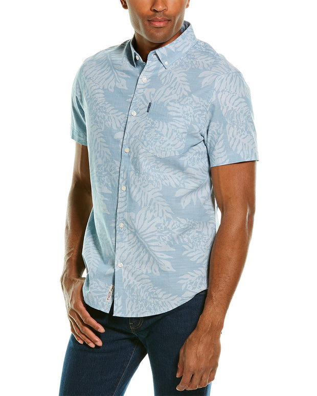 Original Penguin Leaf Print Woven Shirt