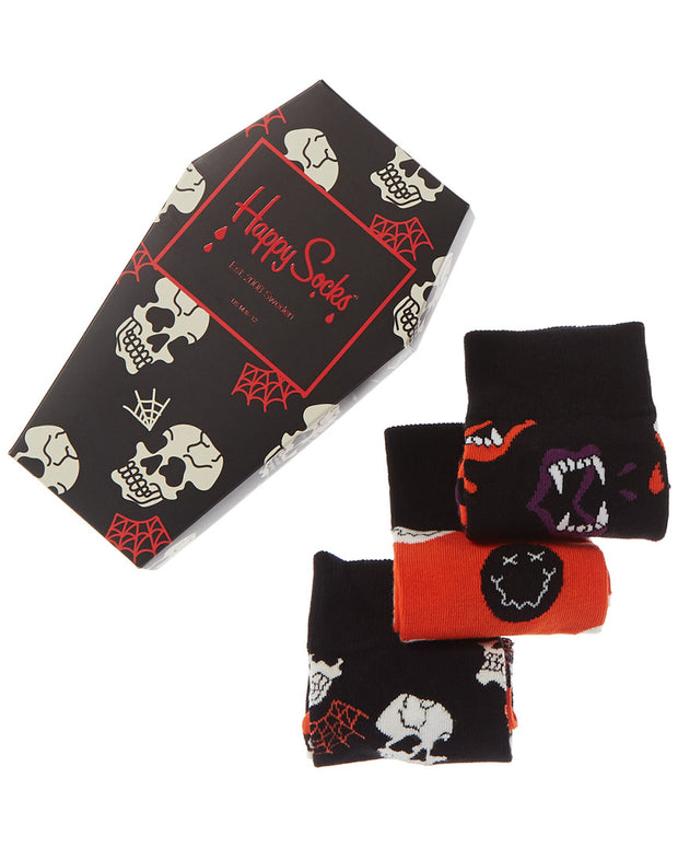 Happy Socks Men's Halloween 3Pc Sock Gift Box