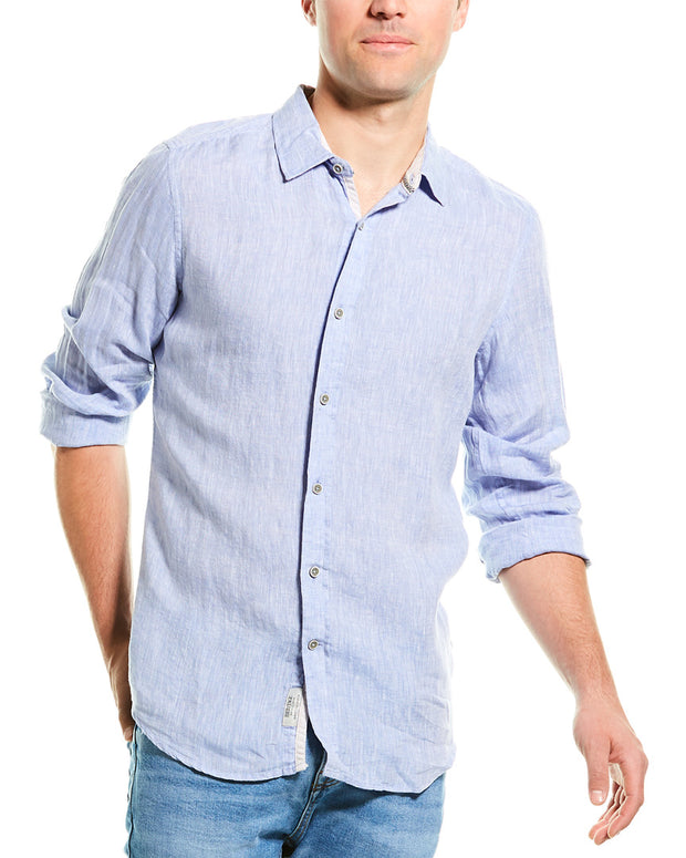 Report Collection Heritage Modern Fit Linen Woven Shirt