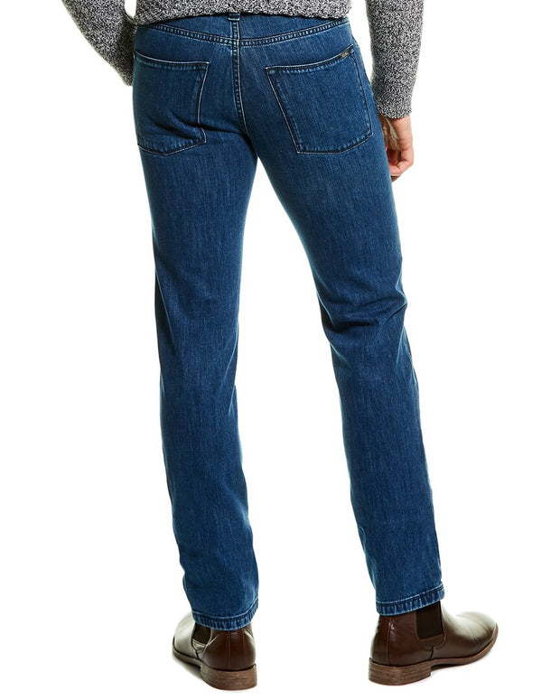 Loro Piana Medium Wash Skinny Leg Jean