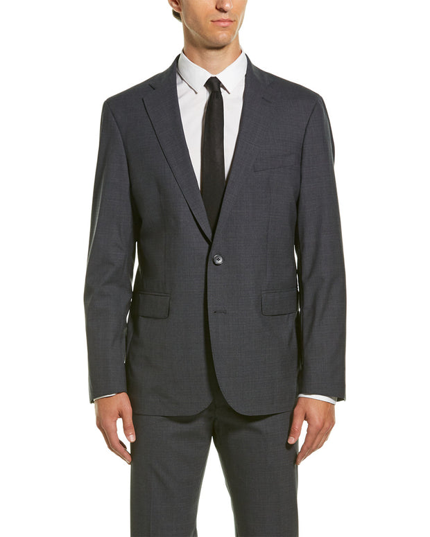 Cole Haan Wool-Blend Suit With Flat Front Pant