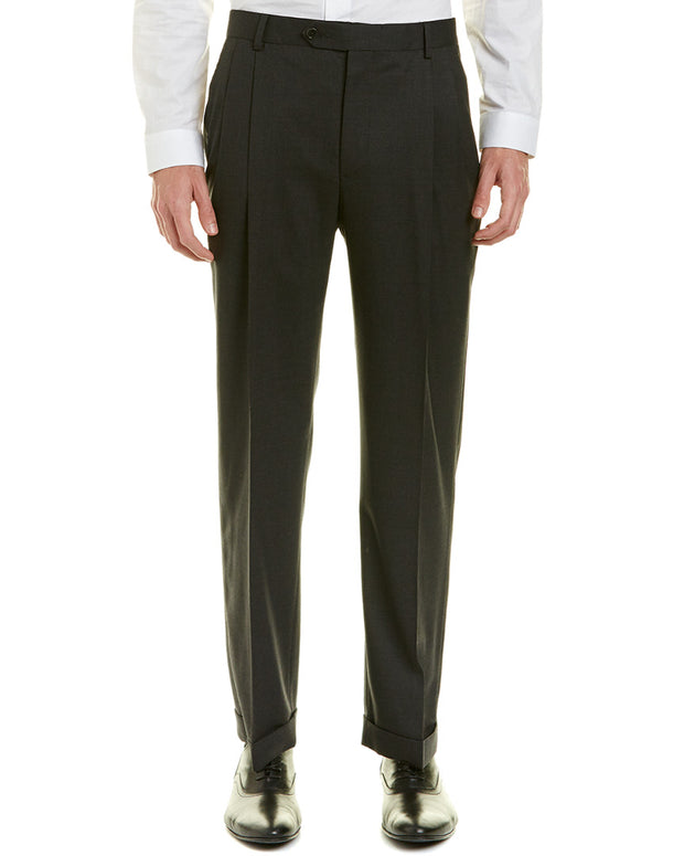 Brooks Brother Madison Fit Pleated Wool-Blend Trouser