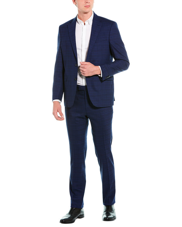 Kenneth Cole New York 2Pc Wool-Blend Suit With Flat Pant