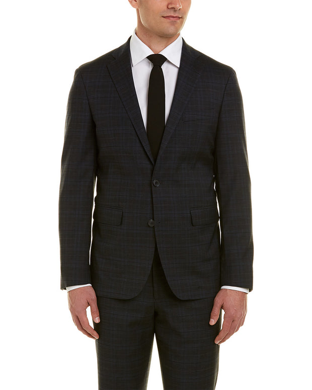Cole Haan Tailored Wool-Blend Suit With Flat Front Pant