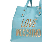 Love Moschino Sky Blue Patent Shopper Tote