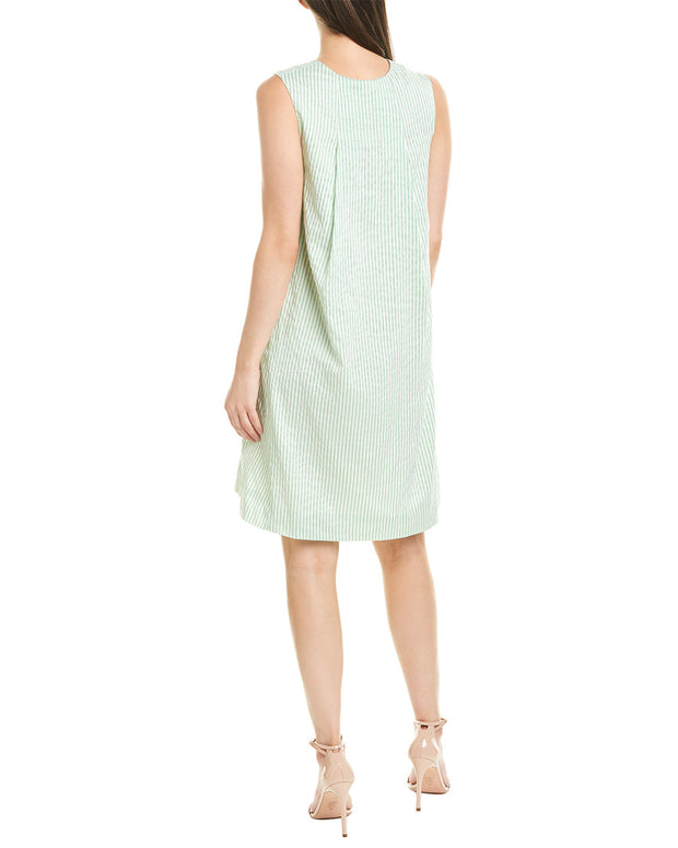 Lela Rose Silk-Blend Tunic Dress