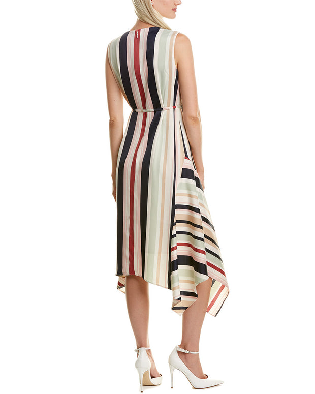 Maggy London Asymmetrical Midi Dress