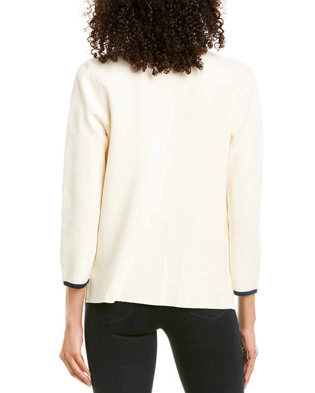 Anne Klein Four-Pocket Cardigan