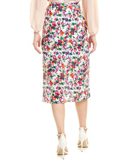 Saloni Kelly Silk Pencil Skirt