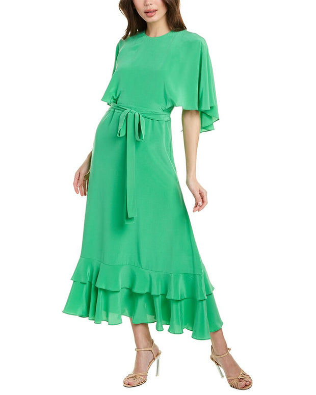 Alexis Cateline Silk Midi Dress