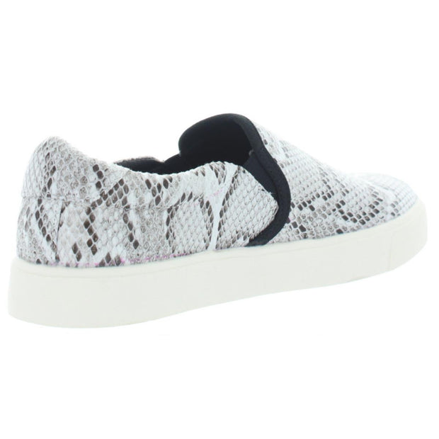 Dirty Laundry Womens Emory Snake Print Slip-On Fashion Sneakers