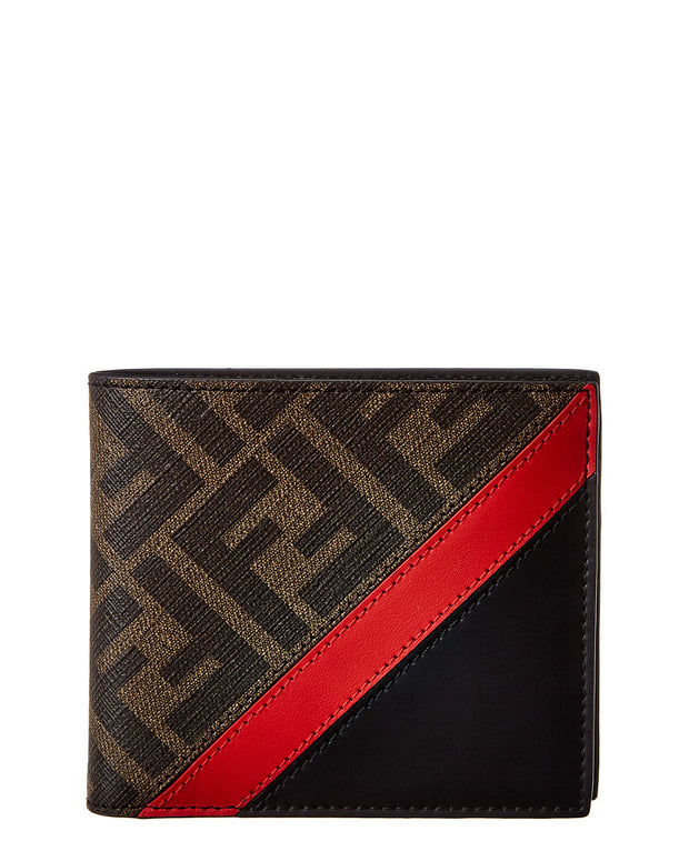 Fendi Ff Monogram Leather Bifold Wallet