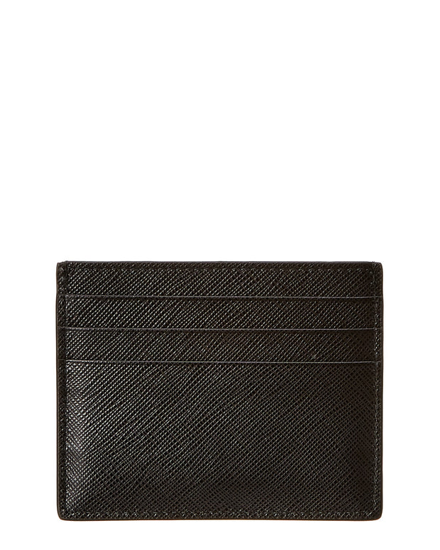 Prada Logo Saffiano Leather Card Case