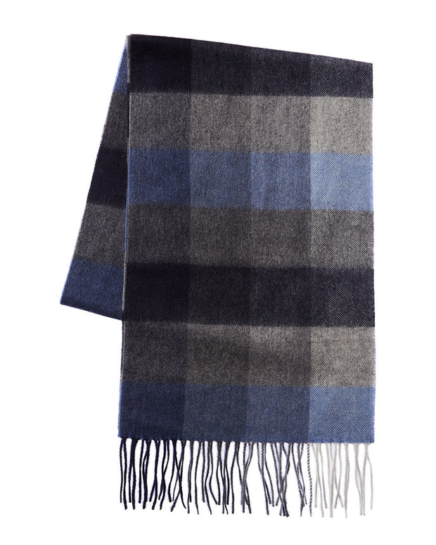 Qi Box Plaid Cashmere Scarf