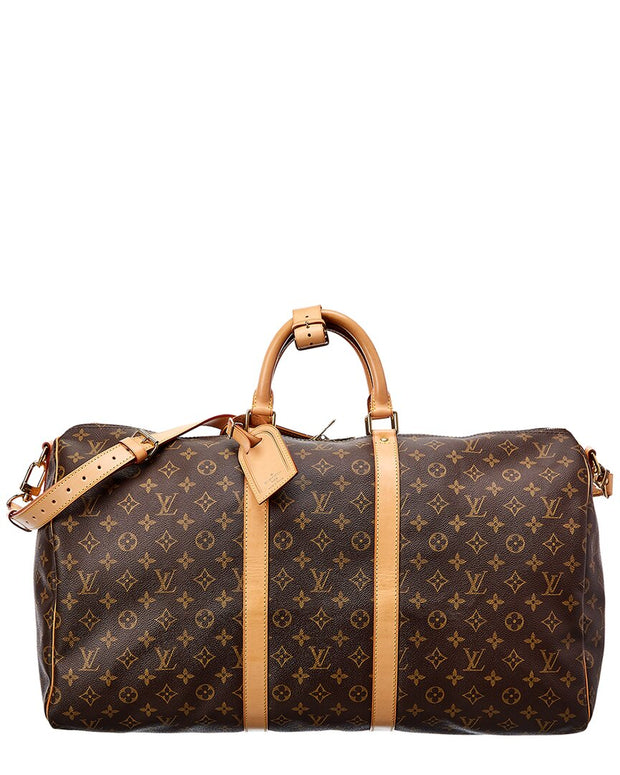 Pre-Owned Louis Vuitton Monogram Canvas Keepall 55 Bandouliere