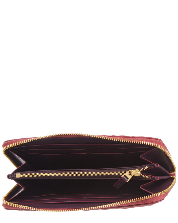 Bottega Veneta Intrecciato Leather Zip Around Wallet