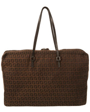Pre-Owned Fendi Brown Zucchino-Print Canvas Tote