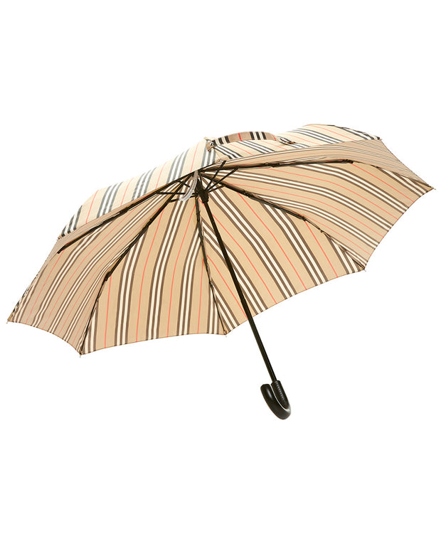 Burberry Trafalgar Vintage Check Stripe Folding Umbrella