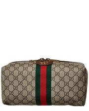 Gucci Ophidia Gg Supreme Canvas & Leather Toiletry Case