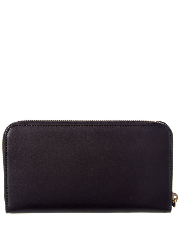 Fendi Dotcom Leather Zip Around Wallet