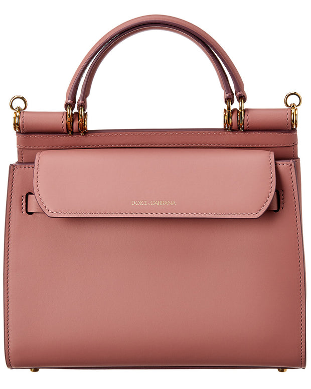 Dolce & Gabbana Sicily 58 Small Leather Satchel