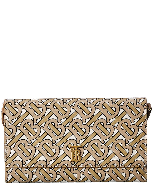 Burberry Monogram Leather Continental Wallet On Chain