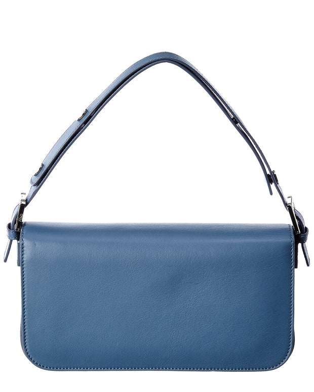 Pre-Owned Fendi Blue Leather Trebagget Shoulder Bag