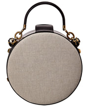 Salvatore Ferragamo Round Studio Canvas & Leather Crossbody