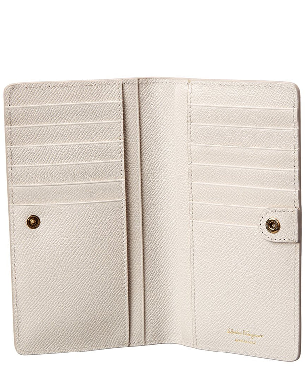 Salvatore Ferragamo Gancini Leather Card Case