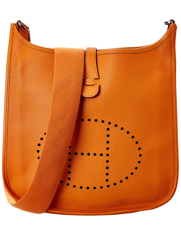 Pre-Owned Hermes Orange Epsom Leather Evelyne Ii Pm
