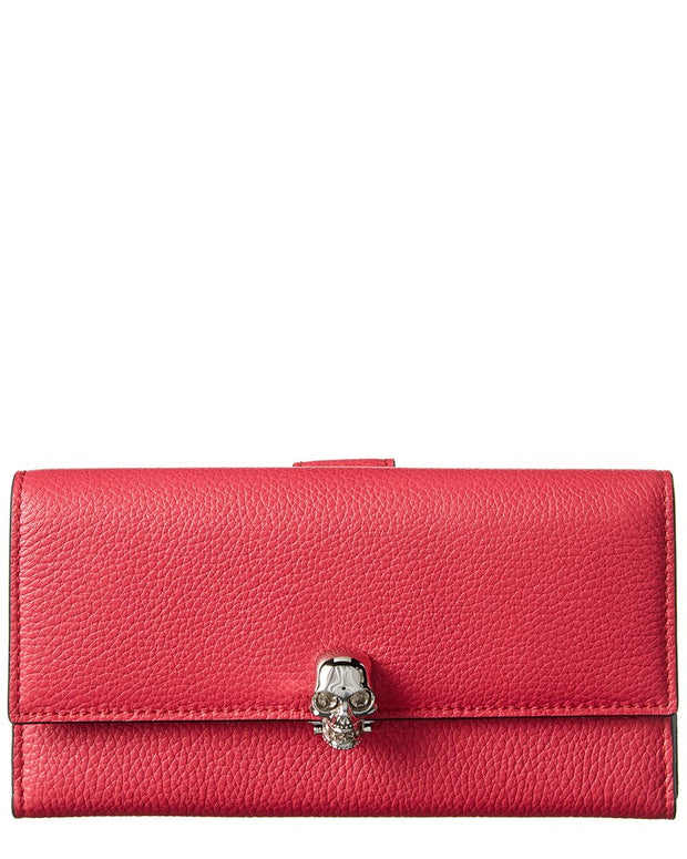 Alexander Mcqueen Skull Leather Continental Wallet