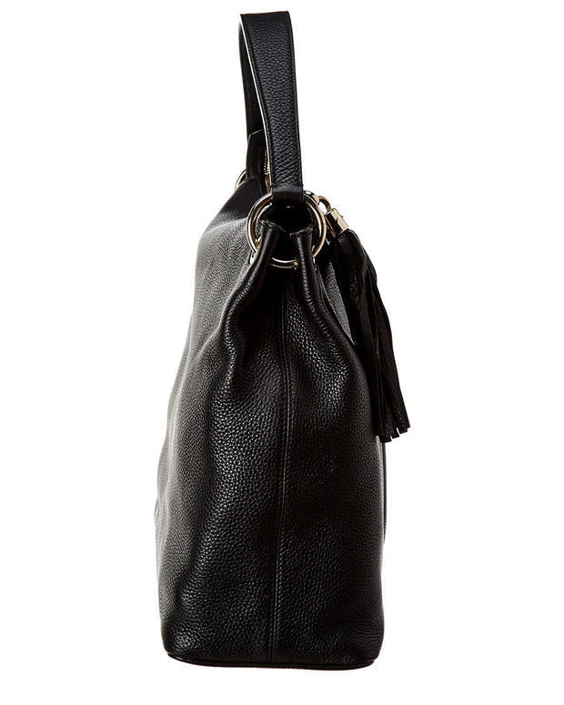 Pre-Owned Gucci Black Leather Convertible Soho Hobo Bag