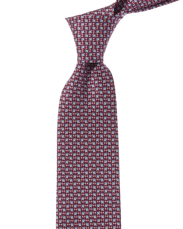 Salvatore Ferragamo Purple Elephant Silk Tie