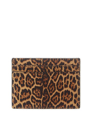 Saint Laurent Leopard-Print Leather Card Case