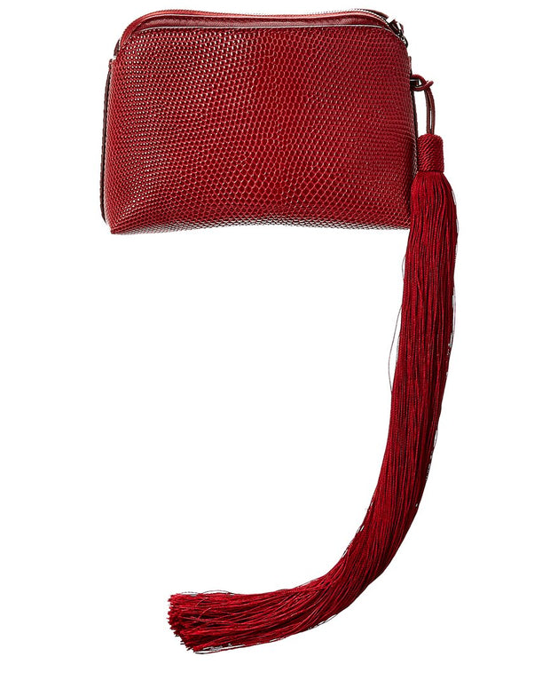 The Row Reptile-Embossed Leather Pouch