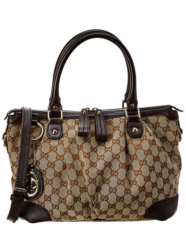Pre-Owned Gucci Brown Gg Canvas Tote