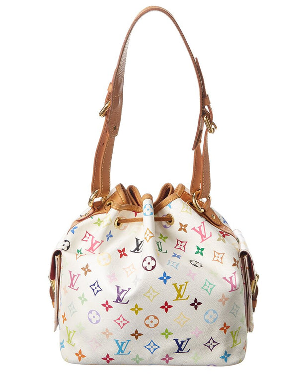 Pre-Owned Louis Vuitton White Monogram Multicolore Canvas Petit Noe