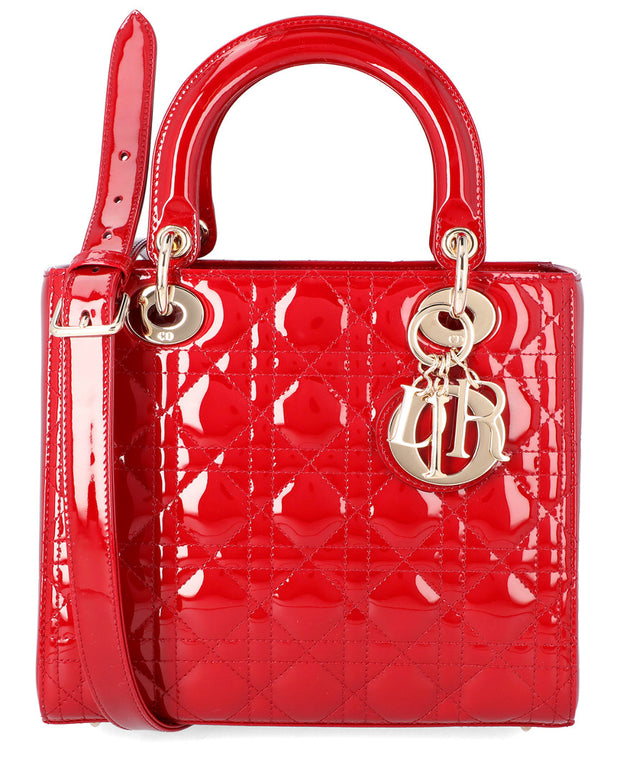 Dior Medium Lady Dior Leather Tote