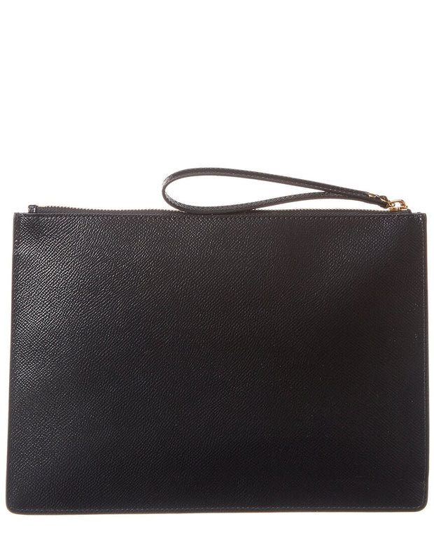 Salvatore Ferragamo Gancini Leather Pouch