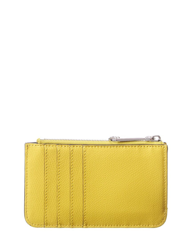Fendi Ff Motif Leather Card Case