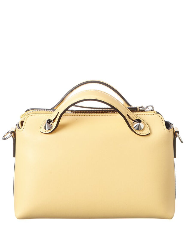 Fendi By The Way Mini Leather Boston Bag