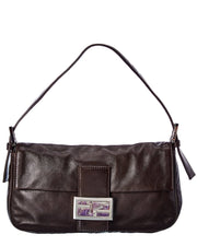 Pre-Owned Fendi Brown Leather Mama Baguette