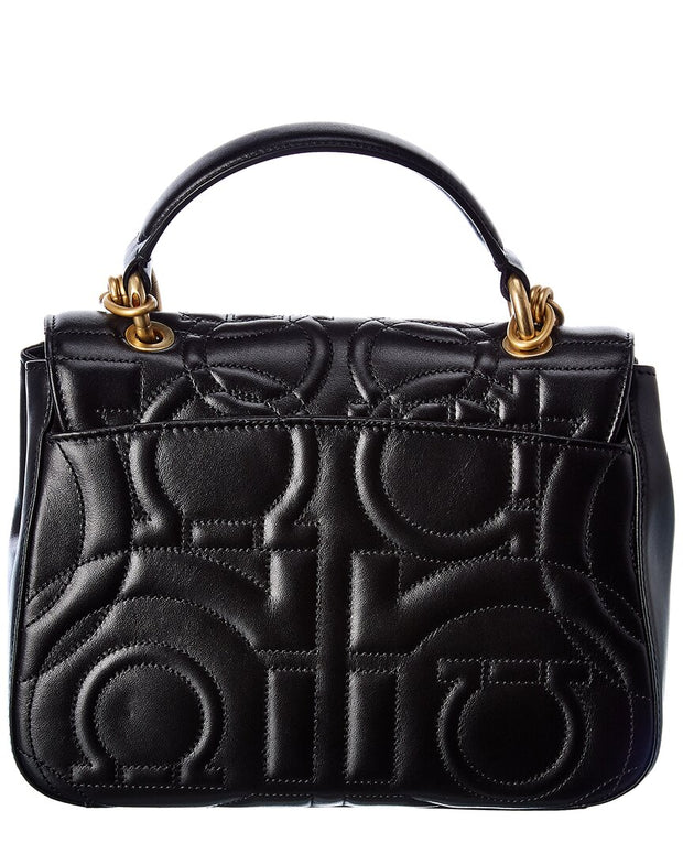 Salvatore Ferragamo Gancini Quilted Leather Shoulder Bag