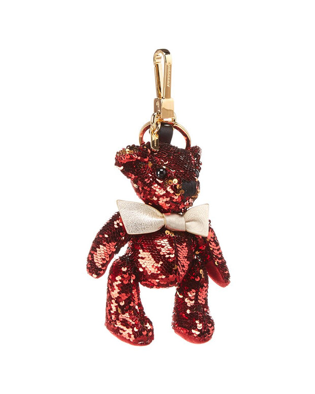 Burberry Thomas Bear Sequin & Leather Charm