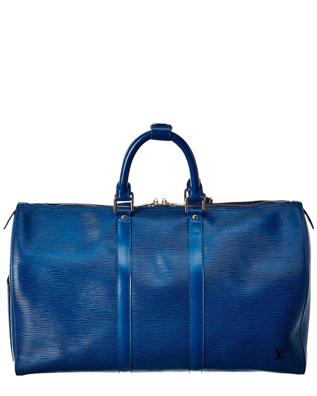 Pre-Owned Louis Vuitton Blue Epi Leather Keepall 45