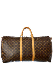 Pre-Owned Louis Vuitton Monogram Canvas Keepall 60 Bandouliere