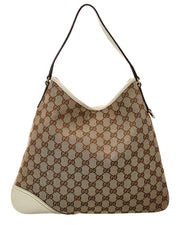 Pre-Owned Gucci Brown Gg Canvas New Britt Hobo Bag